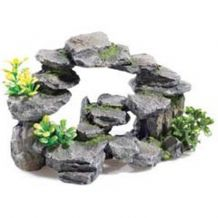 Classic Rock Arch with Plants